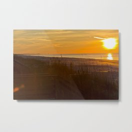 Golden Gulf Sunrise Metal Print