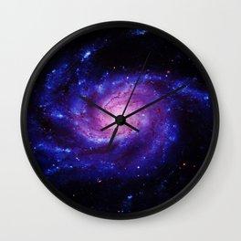 Spiral gAlAxy : Purple Blue Wall Clock
