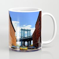 bridge Mugs featuring Bridge by Brown Eyed Lady