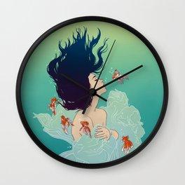 Underwater Lady Wall Clock