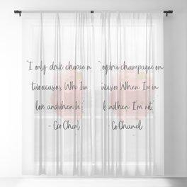 Champagne love II Sheer Curtain
