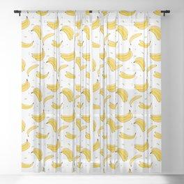 Banana print Sheer Curtain