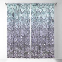 MAGIC MERMAID - MYSTIC TEAL-PURPLE Sheer Curtain