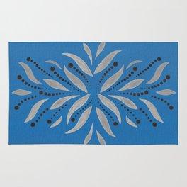 Silver Leafs – Blue Bell – Scandinavian Folk Art Rug