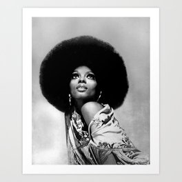 Diana Ross - Black Culture - Black History Art Print
