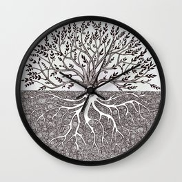Tree of Life as above so below Wall Clock