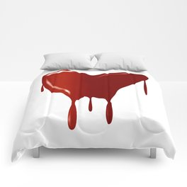 Melting Red Heart Comforters