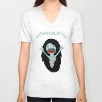 marceline V-neck T-shirts featuring Metal Marceline by totemxtotem
