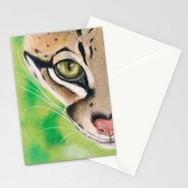 Ocelot Eye Soft Pastel Art Stationery Cards