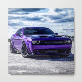 Plum Crazy Purple Challenger SRT Redeye Hellcat Widebody Metal Print