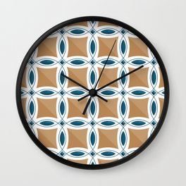 Circles with lens pattern and Diamond Wall Clock