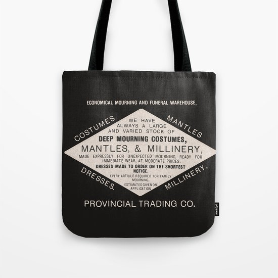Economical Mourning and Funeral Warehouse  Tote Bag