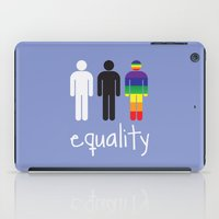 equality iPad Cases featuring Equality pride by Tony Vazquez