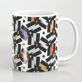 Energy - Morrocan Tiles Memphis pattern minimal geometric star zigzag bolts Coffee Mug