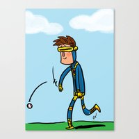 Cyclops Loves Baseball Canvas Print