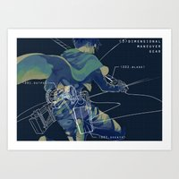 levi Art Prints featuring LEvi  by KELLLL