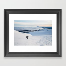Hiking to the top of Tongariro Framed Art Print