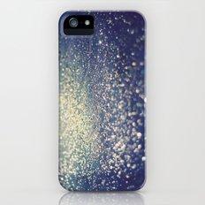 Glitter on Blue iPhone (5, 5s) Slim Case