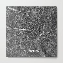 Munich, Germany street map Metal Print