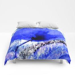 Blue Poppy vintage 222 Comforters