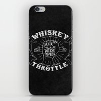 whiskey iPhone & iPod Skins featuring Whiskey Throttle  by Kris Petrat Design