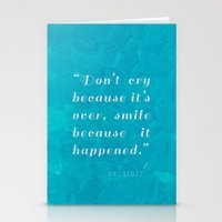 dr seuss Stationery Cards featuring Quote / Dr. Seuss by Justified