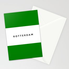 Rotterdam city Netherlands country flag name text Stationery Cards