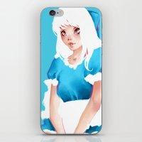 alice in wonderland iPhone & iPod Skins featuring Wonderland by Muzhur n' Leaevra