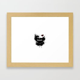 Kaneki Mask Framed Art Print