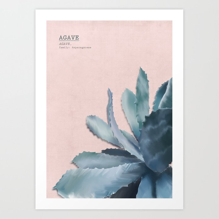 blue Agave - rosé Art Print