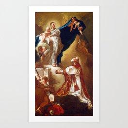 Giovanni Battista Piazzetta Madonna and Child Appearing to Saint Philip Neri Art Print