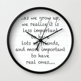 Real Friends Wall Clock