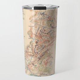 Vintage Map of Cedar Cree Battlefield (1890) Travel Mug