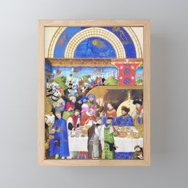 Medieval Banquet Framed Mini Art Print