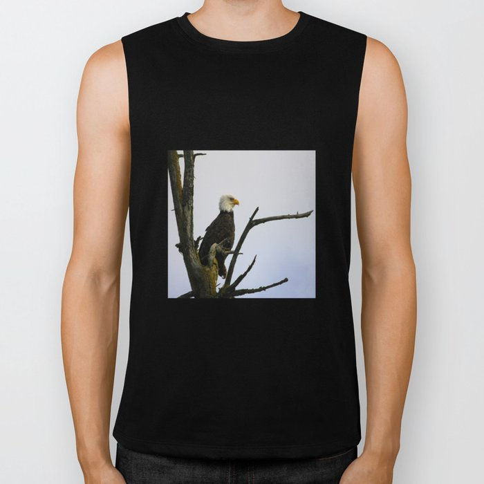 eagle striking a pose (square) Biker Tank