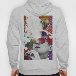 John F Kennedy Cigar And Sunglasses Colorful Hoody