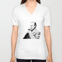 """tolkien V-neck T-shirts featuring """"All that is Gold does not Glitter""""-J.R.R. Tolkien by Fabfari"""