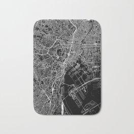 Tokyo Black Map Bath Mat