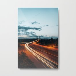 Highway Lights Metal Print