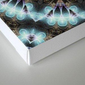 Om Shanti Fractal Geometry [ earthy aqua remix ] Canvas Print