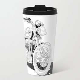 Freedom on a motorbike Travel Mug