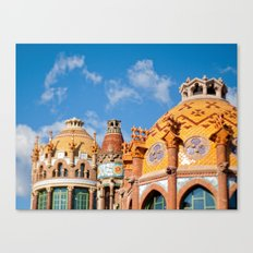 Modernism architecture in Barcelona Canvas Print