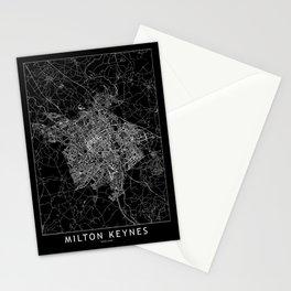 Milton Keynes Black Map Stationery Cards