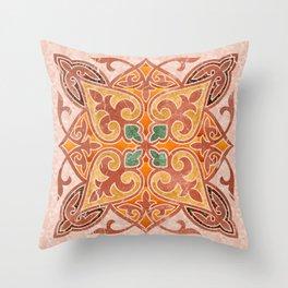 Brown Mandala 02 Throw Pillow