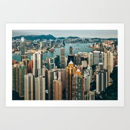 Golden Harbour Art Print