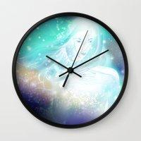 aurora Wall Clocks featuring Aurora by Stevyn Llewellyn