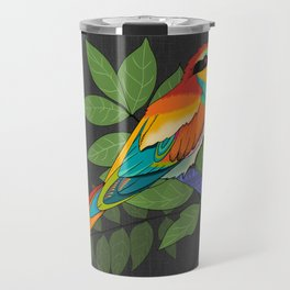 Colorful Bee Eater Bird Portrait Travel Mug