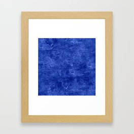 Dazzling Blue Oil Painting Color Accent Framed Art Print