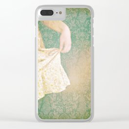 The Yellow Dress. Clear iPhone Case