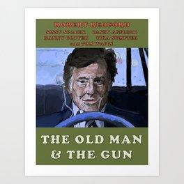 The Old Man & The Gun Art Print